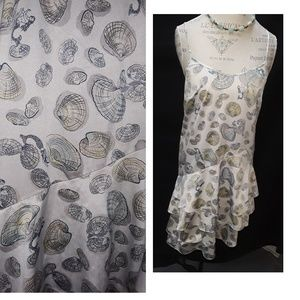 Mermaid/Shells Eloise Dress Medium Anthropologie